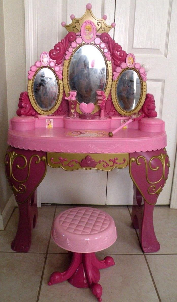 Disney talking vanity for sale classifieds disney princes vanity table interactive talking magical mirror geotapseo Images