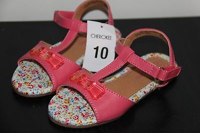 Cherokee Kit Pink Toddler Girl's Sandals Size 10