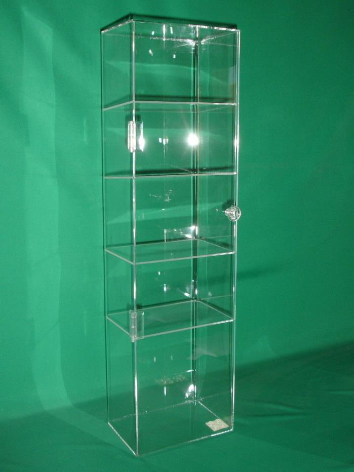 Acrylic Display Case, Counter Top Showcase, 5-Shelf Clear Box Cabinet 7