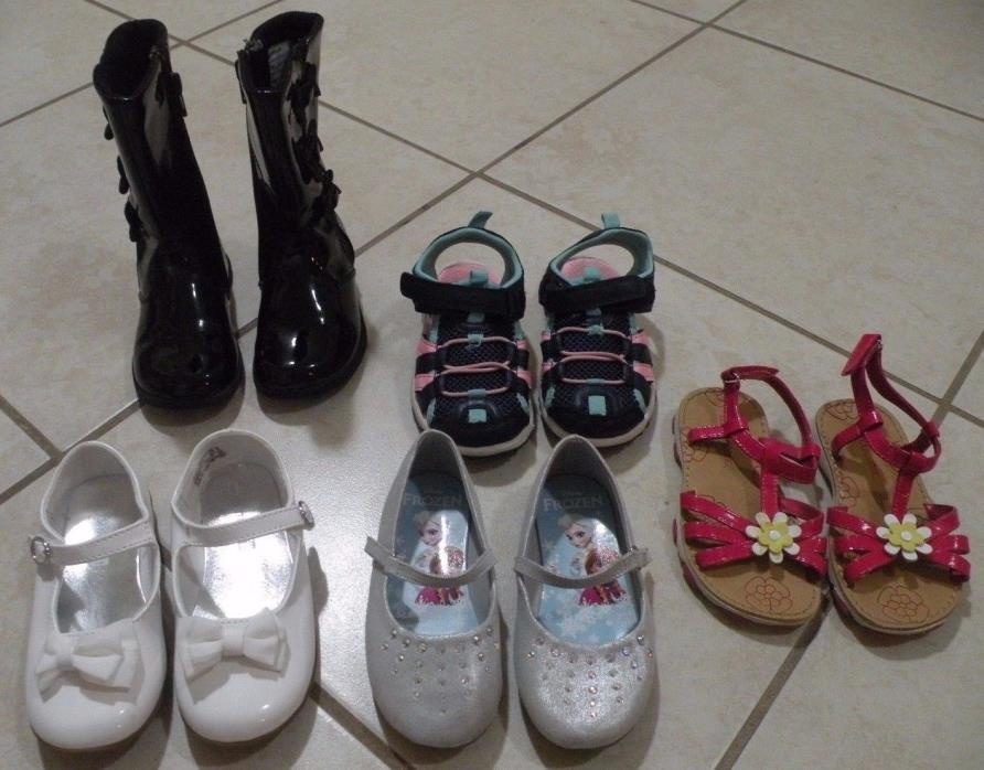 NICE LOT 5p - Toddler Girls Boots, Dress Shoes & Sandal Size 8 - 9
