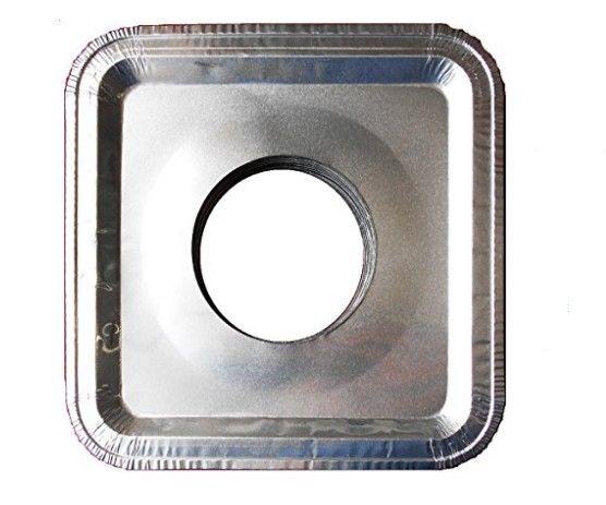 Top Grade Aluminum Foil Square Stove Burner Covers - Universal Size Disposable