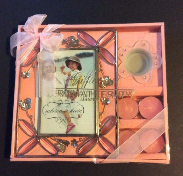 Jasmine Aromatherapy Gift Set, Picture Frame and Candle Set