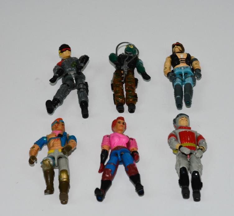 Hasbro GI Joe lot 6 1980s Action Figures