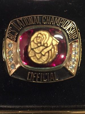 2014 BCS Football Championship Rose Bowl Champions Ring Florida St Auburn