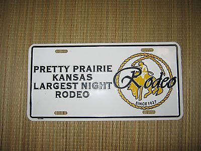 Pretty Prairie Kansas Rodeo Vehicle License Plate