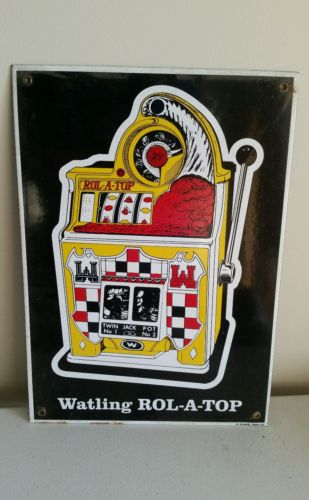WATLING BRASS DENOMINATION BADGE 25c for  Antique Slot Machine