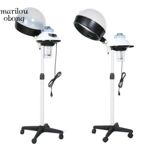 Salon Hair Steamer Rolling Stand Base Hood Processor Adjustable Dryer White MABN