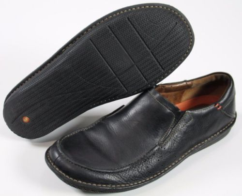 Clark's Structured Men's Slip On Shoes Size 12 M Black