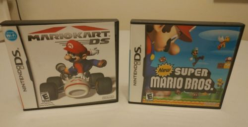 (2) Nintendo DS Games - Mario Kart DS & New Super Mario Bros. DS - Free Shipping