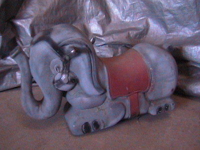 Elephant Spring Ride Playground Toy