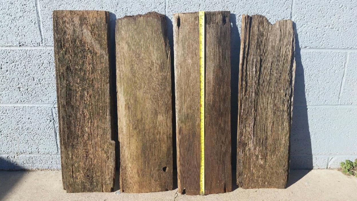 4 Reclaimed 100 year Old Barn Wood Lumber Boards Crafts Frames Rustic