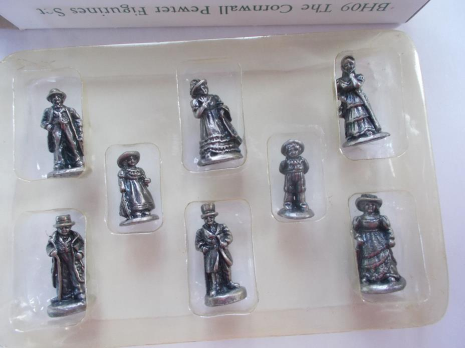 Cornwall Cottage Collection Solid Pewter Figurine Set