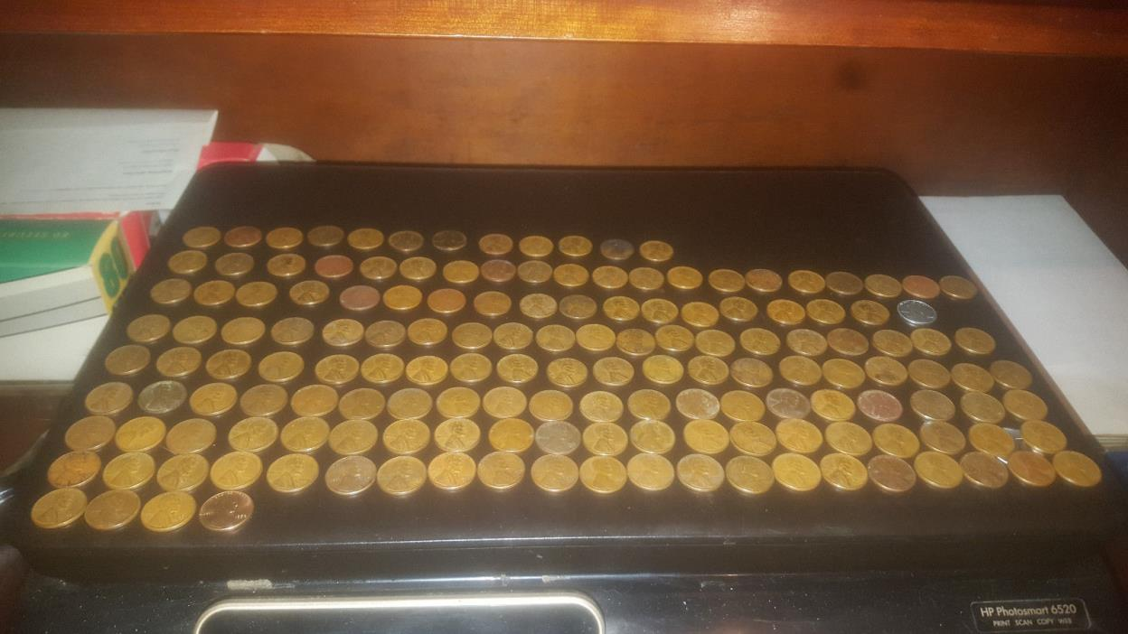 1919-1958 Lincoln Copper and Steel Wheat Pennies