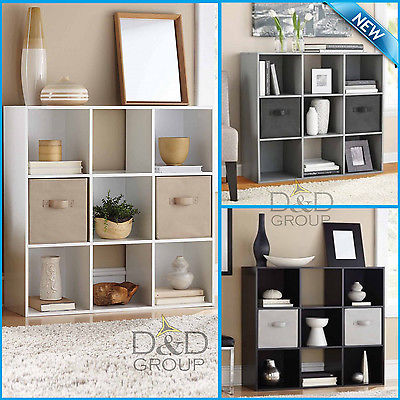 9 Cube Organizer Bookcase Storage Tower Shelves Living Dorm Room Office Display