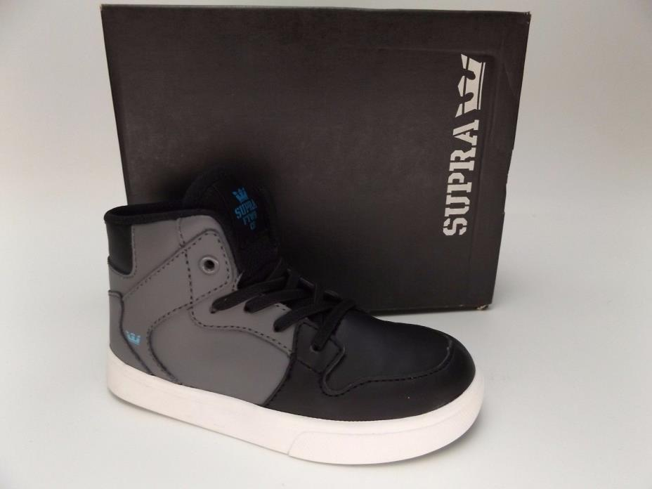 SUPRA VAIDER  Black White TODDLER BABY SHOES TD sz 8 PRE OWNED ONCE -- D379