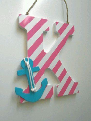 Nursery letters, Girls Nursery Decor, Girls room decor, Nautical Nursery