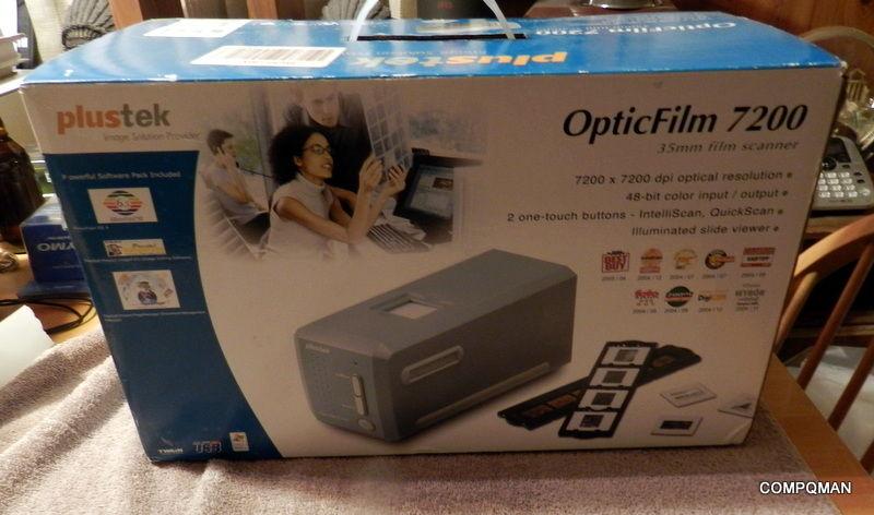 Plustek OpticFilm 7200 35mm Negative & Slide Film Scanner Fast Shipped