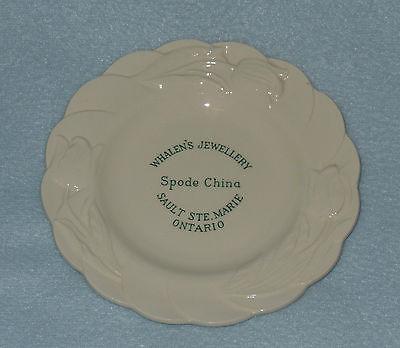 Spode Whalens Jewellery Canada Ad Plate Copeland England VGC Free US Ship