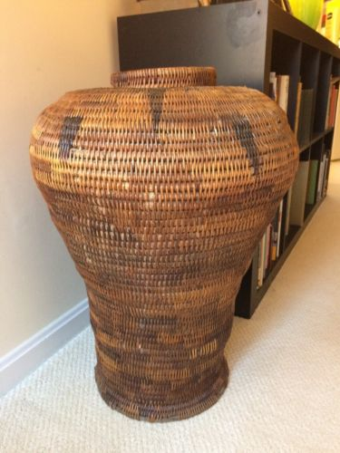 Antique Indian Basket 27 Tall 19 Wide