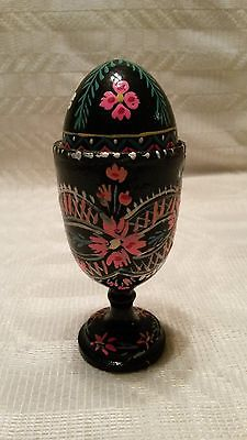 Wooden Egg & Holder - Handpainted
