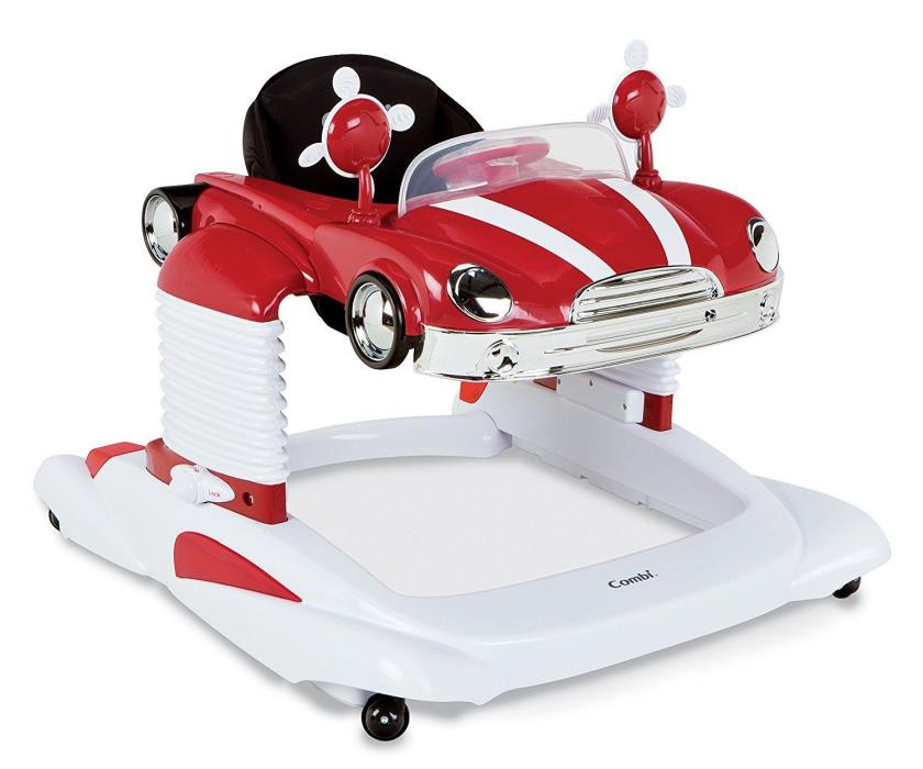 Combi Deluxe Retro Red Car All in One Lights and Sounds Walker Entertainer NEW