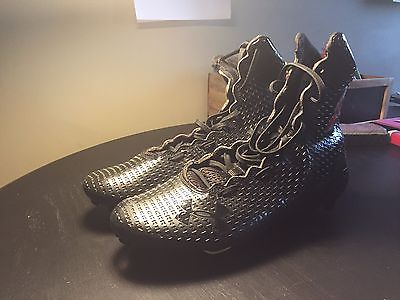 Under Armour Highlight MC Black Football Lacrosse Cleats Size 9