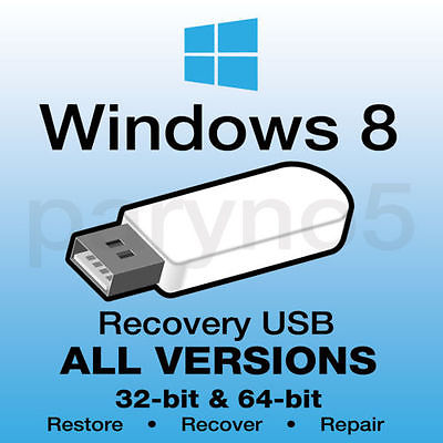 Win 8 usb recovery-all versions included