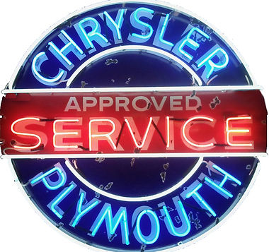 Chrysler/Plymouth Service Neon Sign