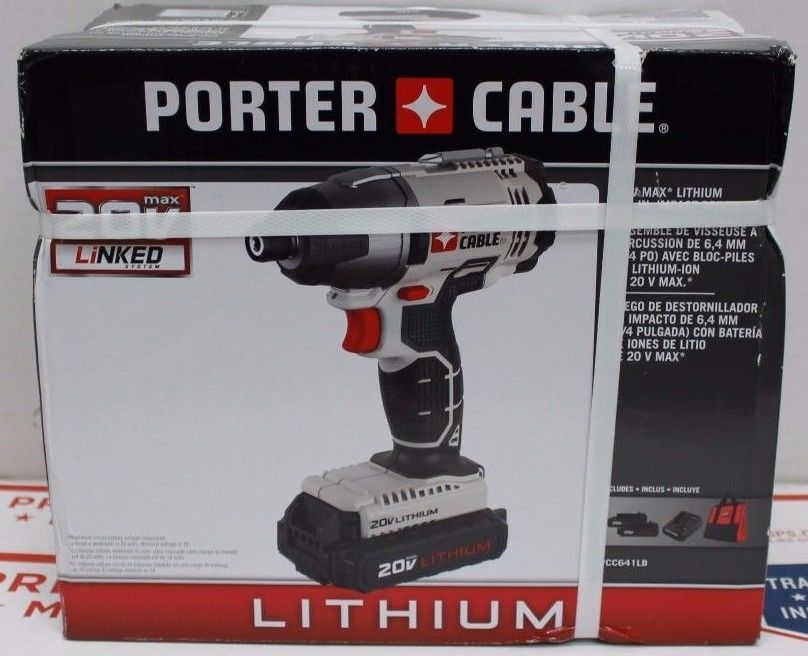 Porter-Cable 20V MAX Li Cordless Impact Driver Kit PCC641LB NEW Free Shipping