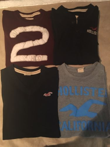 Lot of 4 Men's Hollister Small Shirts