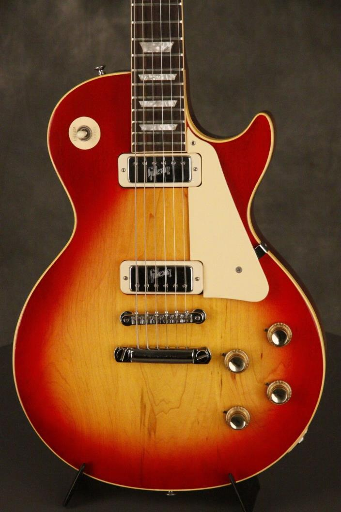 original 1972 Gibson LES PAUL DELUXE Cherry Sunburst w/embossed mini-humbuckers