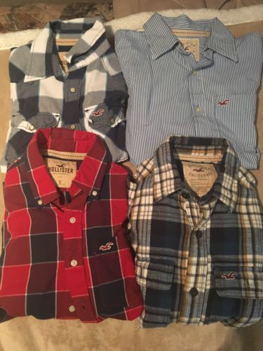 Lot of 4 Men's Hollister Shirts Small