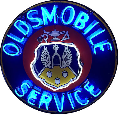 Oldsmobile Round Neon Sign