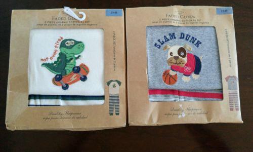 Lot of 2 Baby Organic Cotton Set Size PJ Set Size 24 Months 100% Organic Cotton