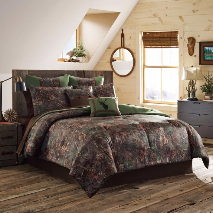 Camo Bedding Set Camouflage Bed in Bag Timber Mixed Pine Comforter Various sz.