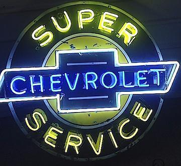 Super Chevrolet Vintage Neon Sign
