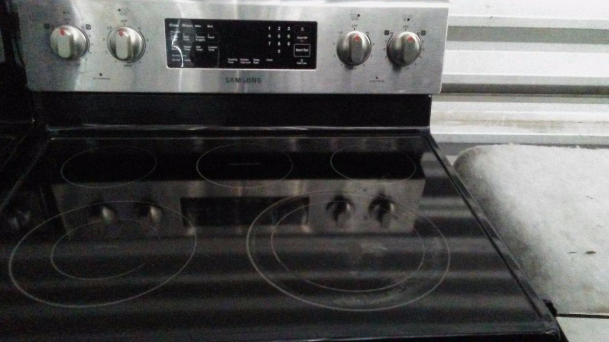 electric samsung stainless steel range (stove) $300 SKU1