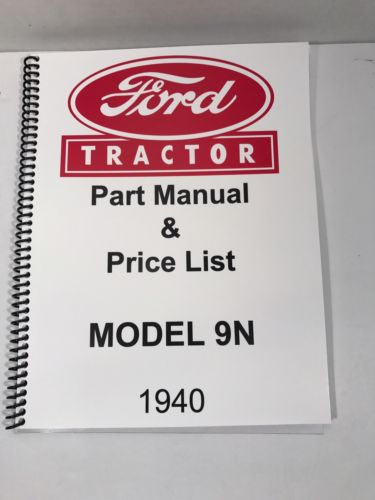Ford 9N Tractor Parts Manual 1940