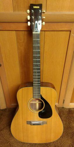 1971 Yamaha fg-140 red label nippon gakki vintage acoustic guitar made in Japan