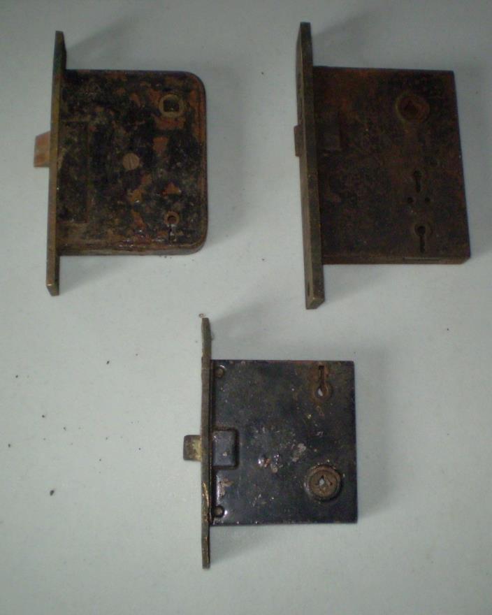 Vintage  Mortise Lock Sets Yale RHC Antique Old House