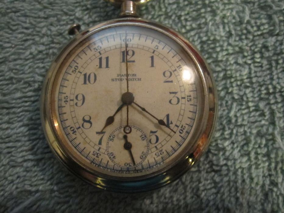 SCARCE- Pastor- Sterling Doctor's Chronograph Stop Watch Pocket Watch ca. 1920's