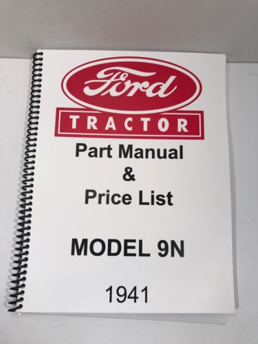 Ford 9N Tractor Parts Manual 1941