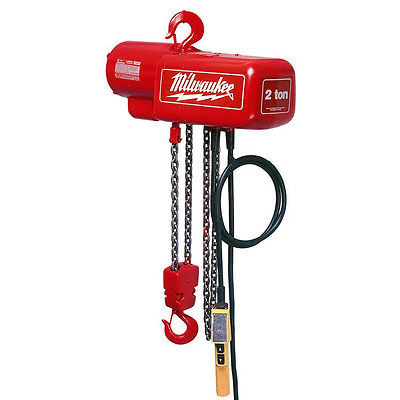 Milwaukee 9566 1 Ton Capacity 10-Foot Lift Electric Chain Hoist - Bare Tool