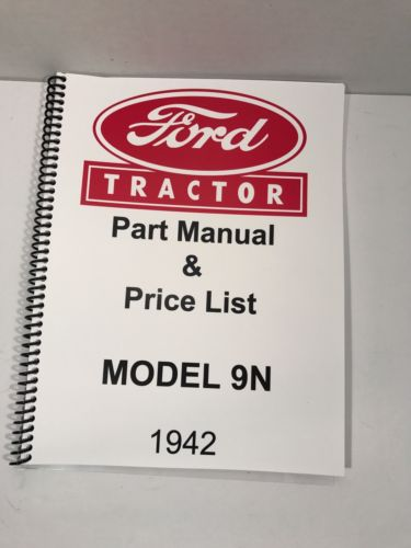 Ford 9N Tractor Parts Manual 1942