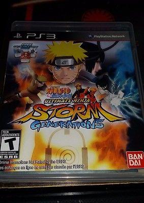Naruto Shippuden Ultimate Ninja Storm Generations - (PlayStation 3 2012) PS3