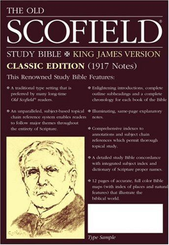 The Old Scofield Study Bible, KJV, Classic Edition Leather Bound NEW