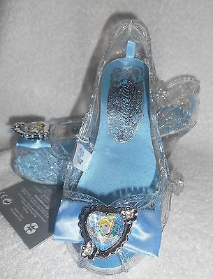 CINDERELLA COSTUME SHOES SIZE  9-10, OR 11-12 NWT DISNEY STORE LIGHT-UP