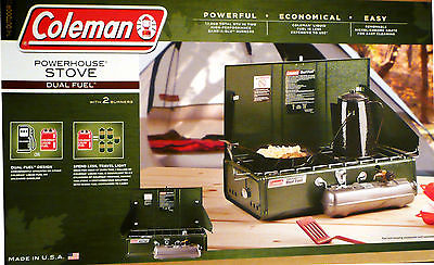 DUAL FUEL COLEMAN POWERHOUSE STOVE - COLEMAN CAMPING FUEL OR UNLEADED GASOLINE