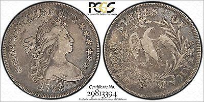 1798 SMALL EAGLE Draped bust dollar PCGS VF25 CAC