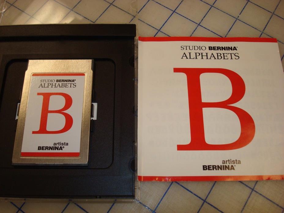Studio Bernina ALPHABETS Embroidery Designs Memory Card Artista Bernina tested